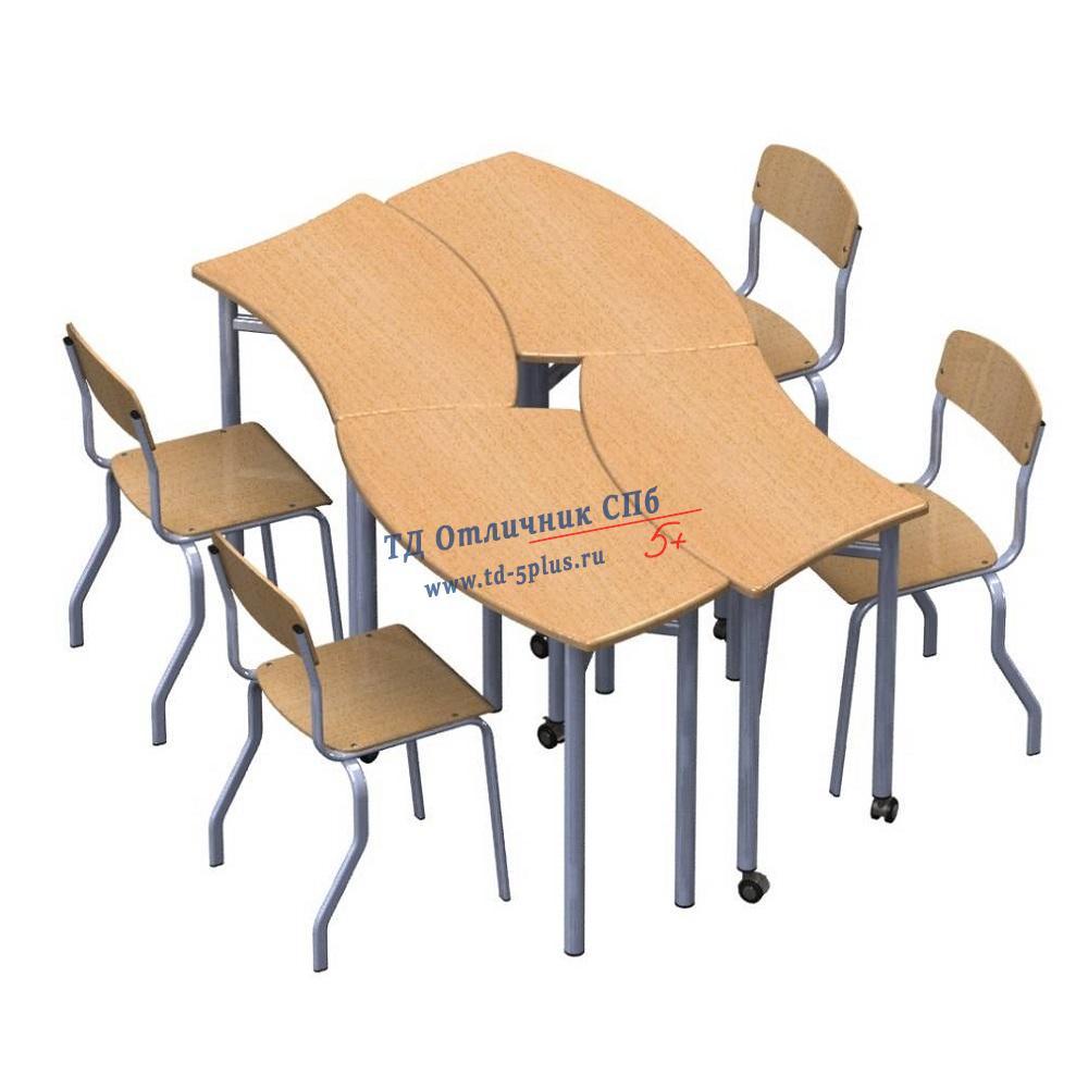 """Стол ученический трансформер """"Пазл 6"""""""