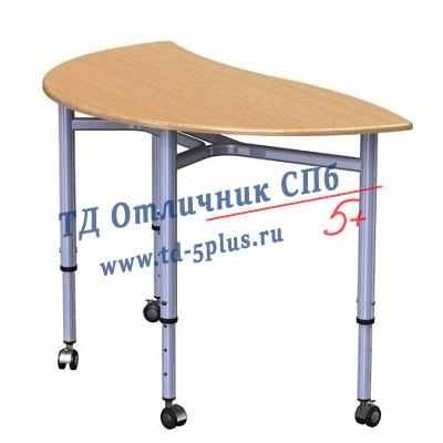"""Стол ученический трансформер """"Полукруглый"""" 4"""